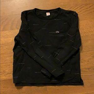Lacoste L!VE Black Crewneck Sweatshirt